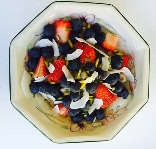 Amaranth Porridge with fruit